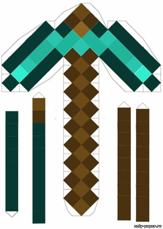 Minecraft поделки из бумаги