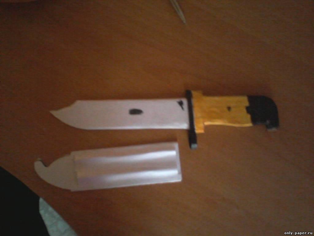 Как сделать из бумаги нож штык нож м9