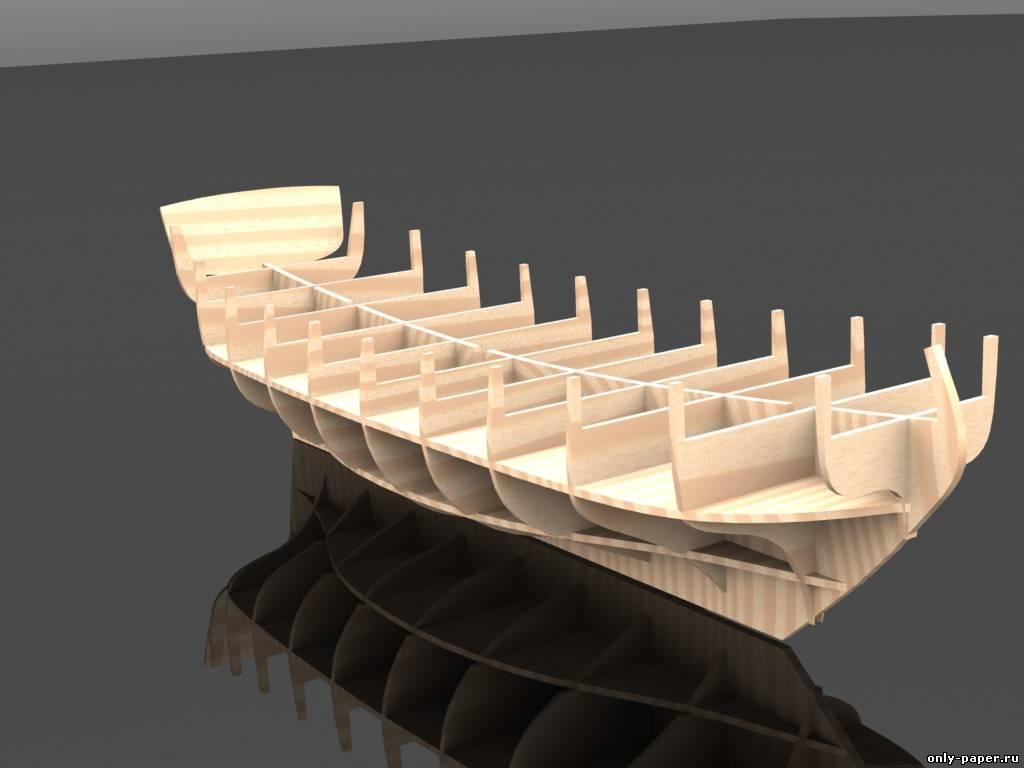 Модель корабля своими руками из картона 56