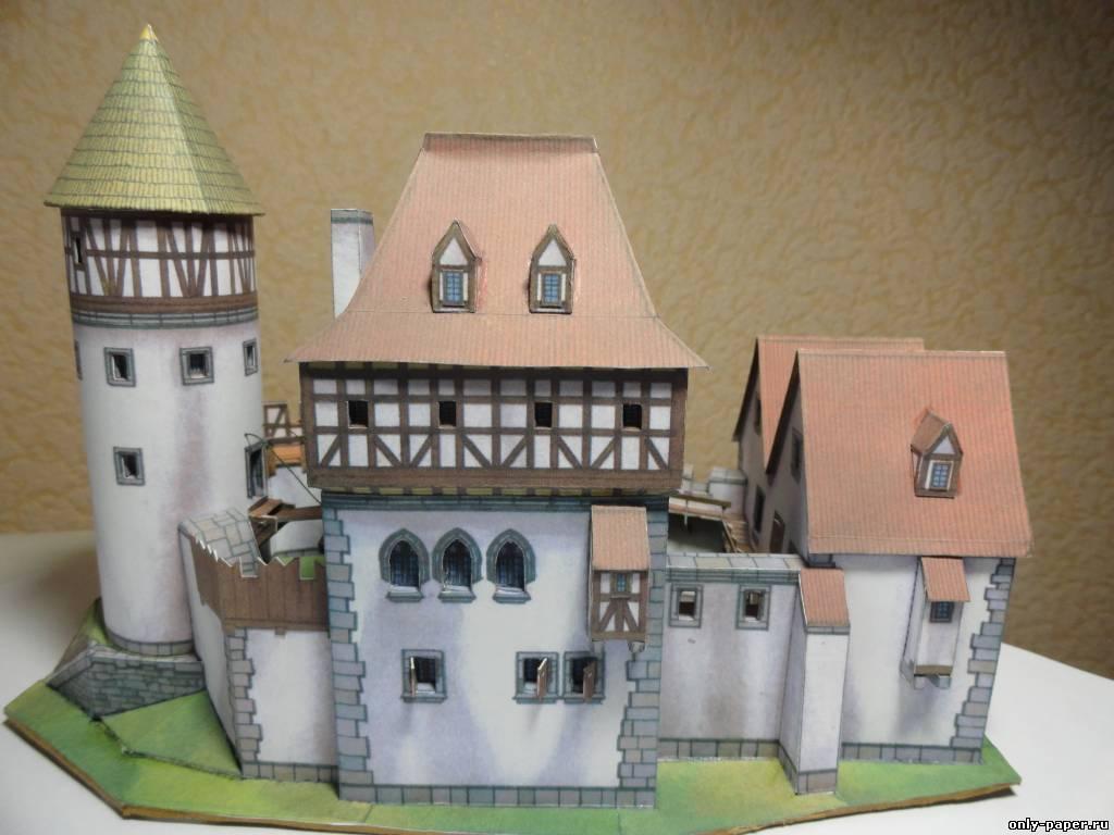 Замок из бумаги простой