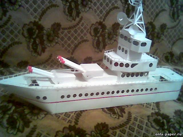 Военный корабль из картона своими руками