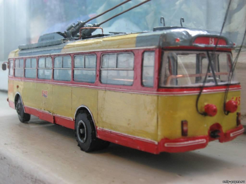 выкройка троллейбуса skoda 9tr