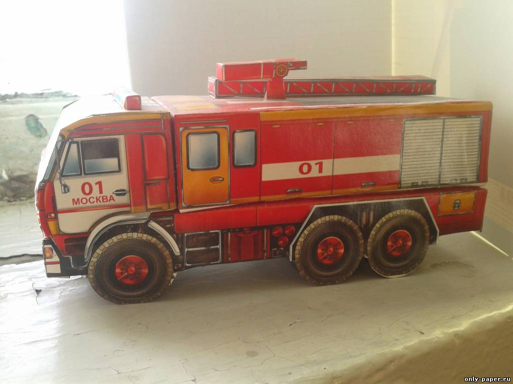 Пожарная машина сделать своими руками 547
