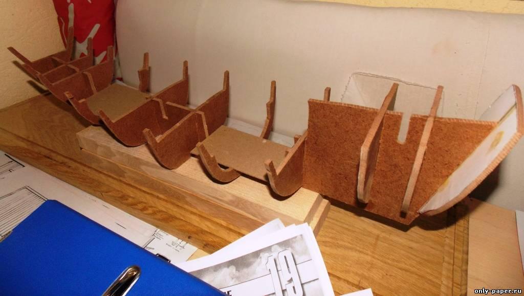Модель корабля своими руками из картона 78