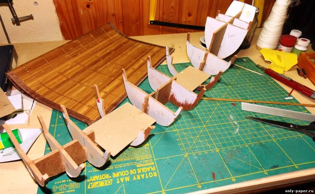 Модель корабля своими руками из картона 35