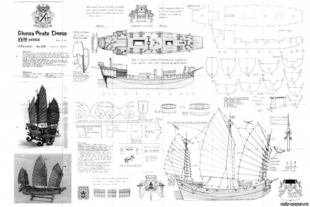 Чертежи моделей кораблей из картона своими руками