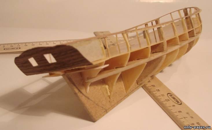 Модель корабля своими руками из картона 19