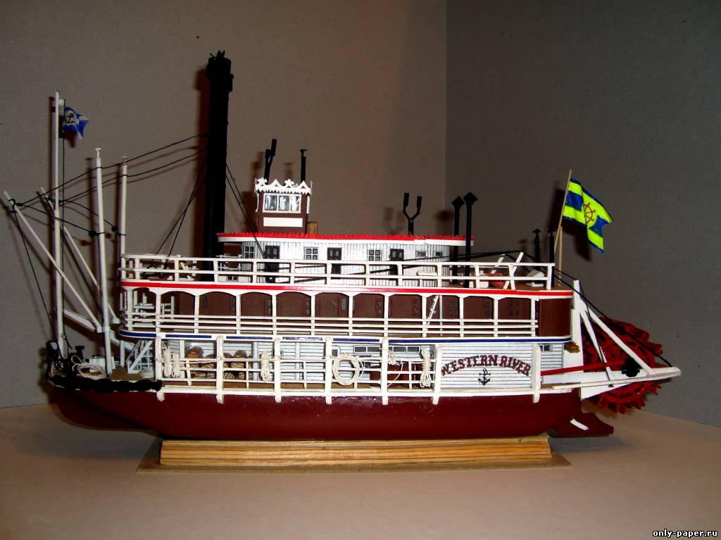 Колесный пароход своими руками 100