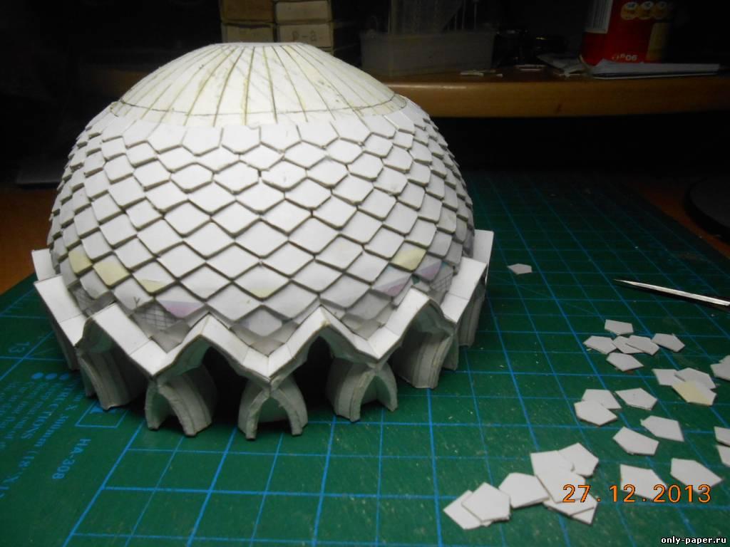 Как сделать макет мечети из бумаги своими руками 50