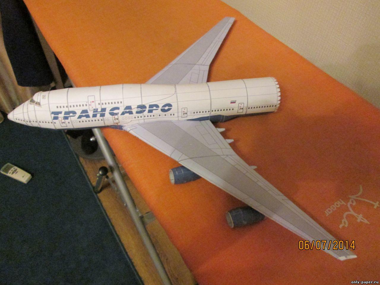 Как сделать модель боинга из бумаги