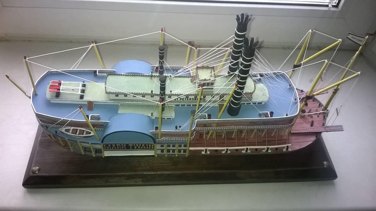 инструкция как сделать пароход из 1 бумаги