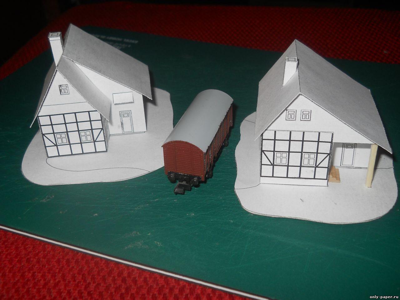 Макет дома из бумаги своими руками схемы - СтроимСвоимиРуками. рф 26