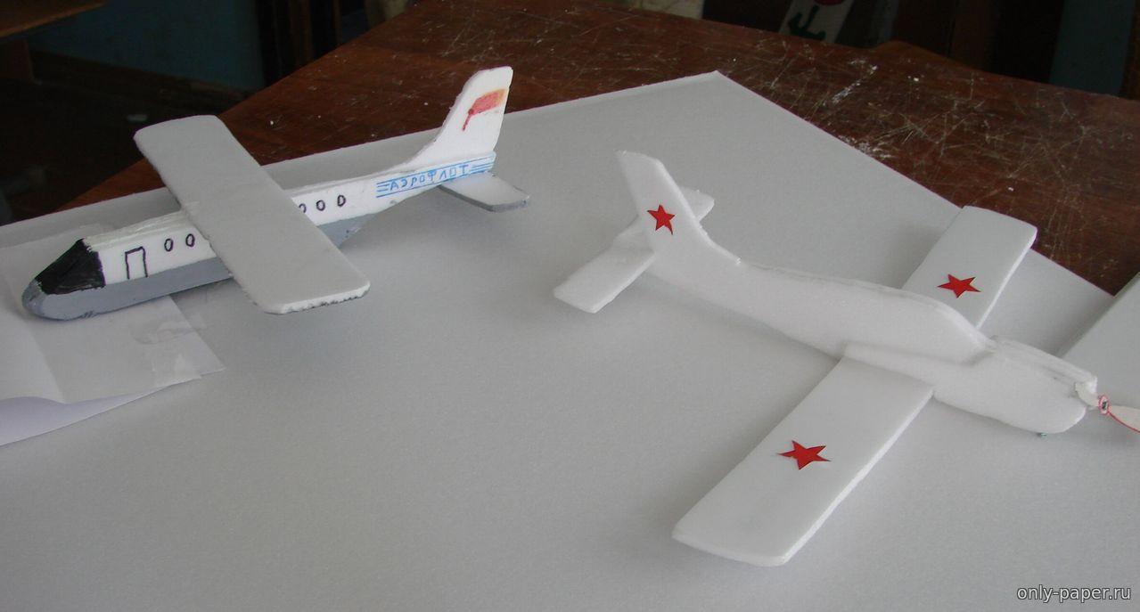 Макет самолёта из пенопласта своими руками 43