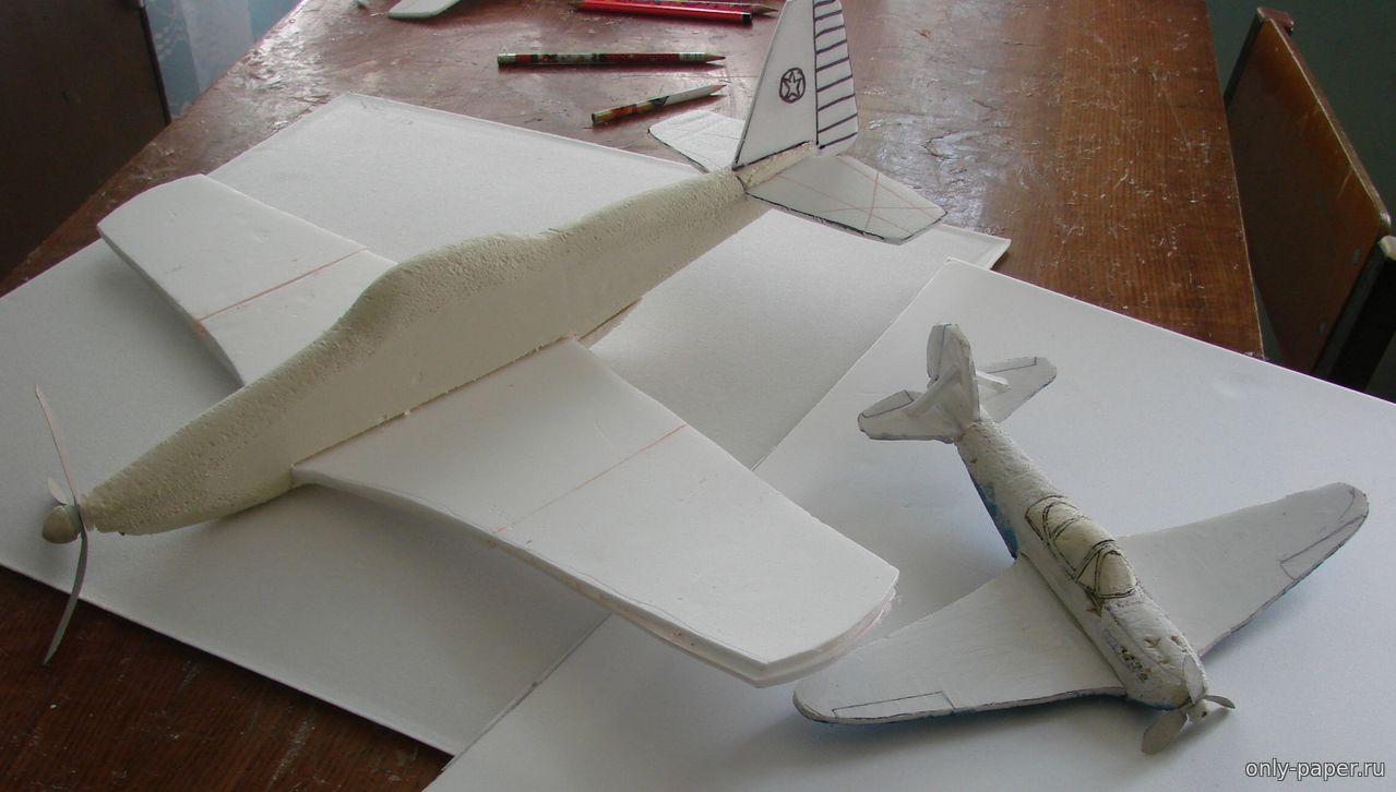 Макет самолёта из пенопласта своими руками 97