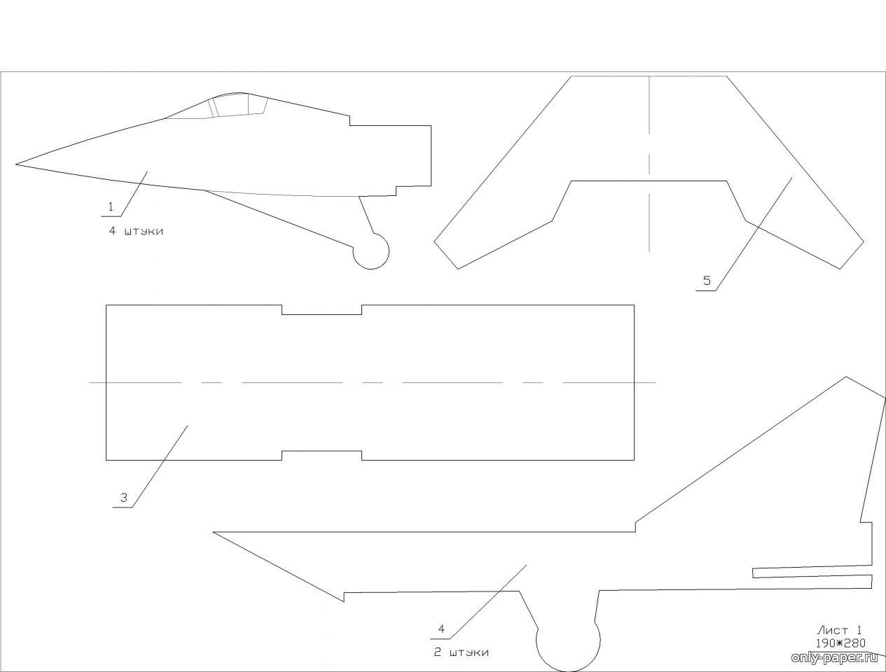 Самолёты из потолочной плитки чертежи