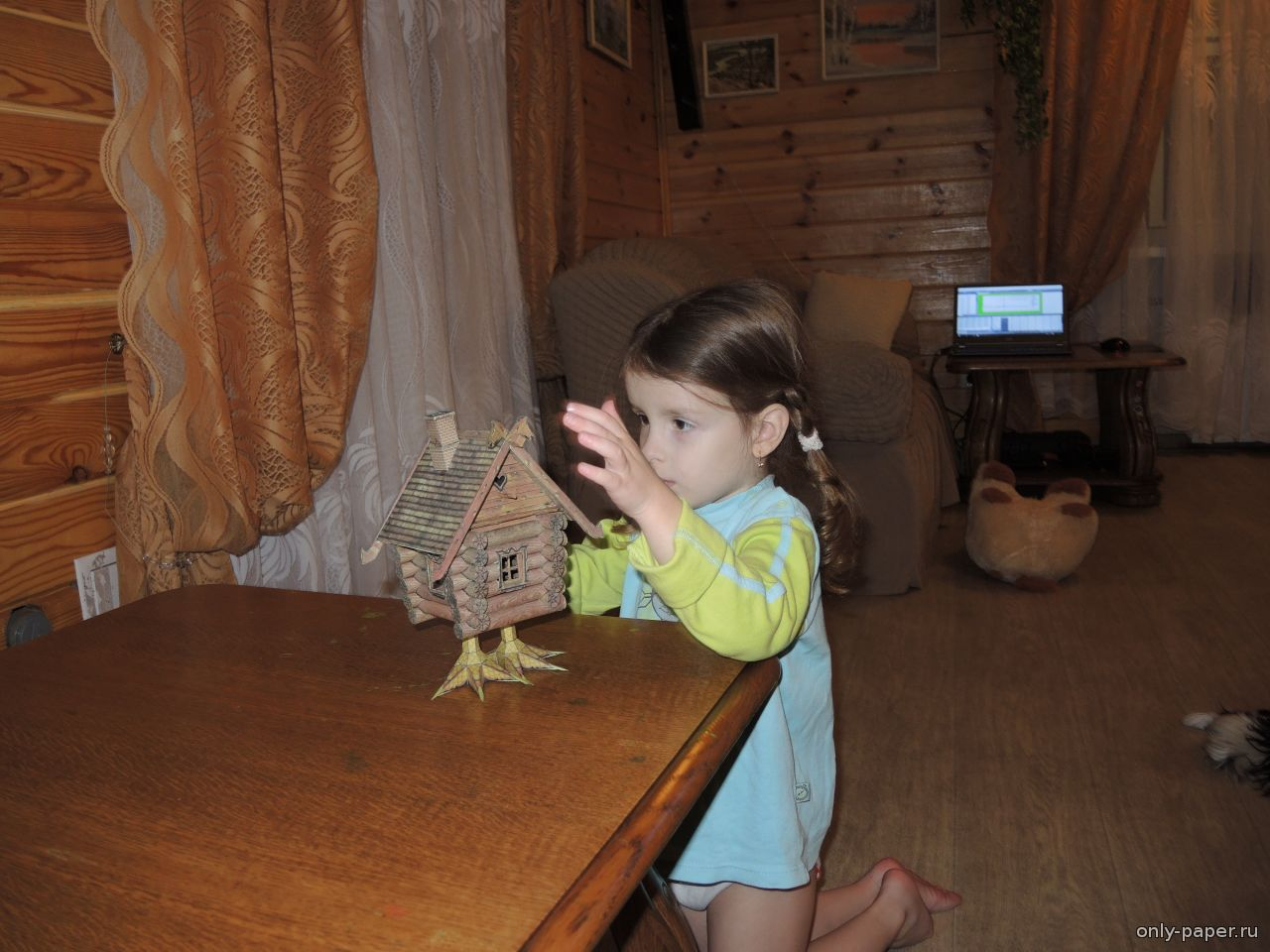 Как сделать бабу из картона