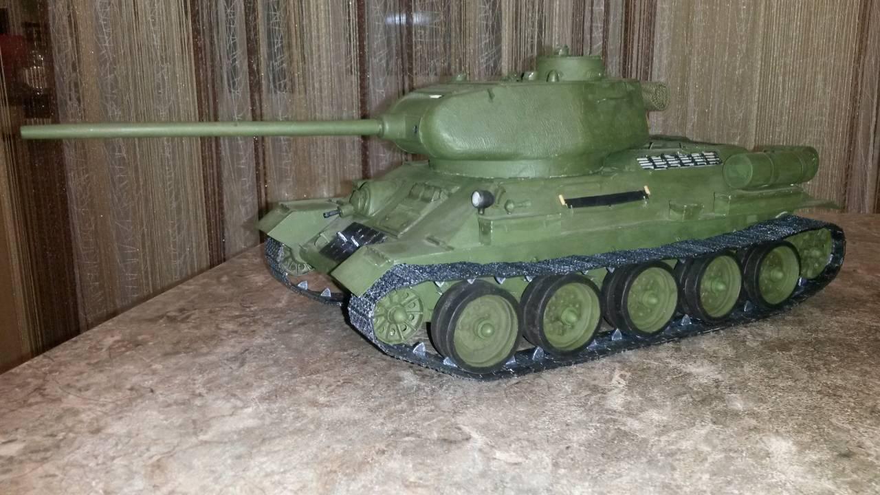 Макет т-34 своими руками 78