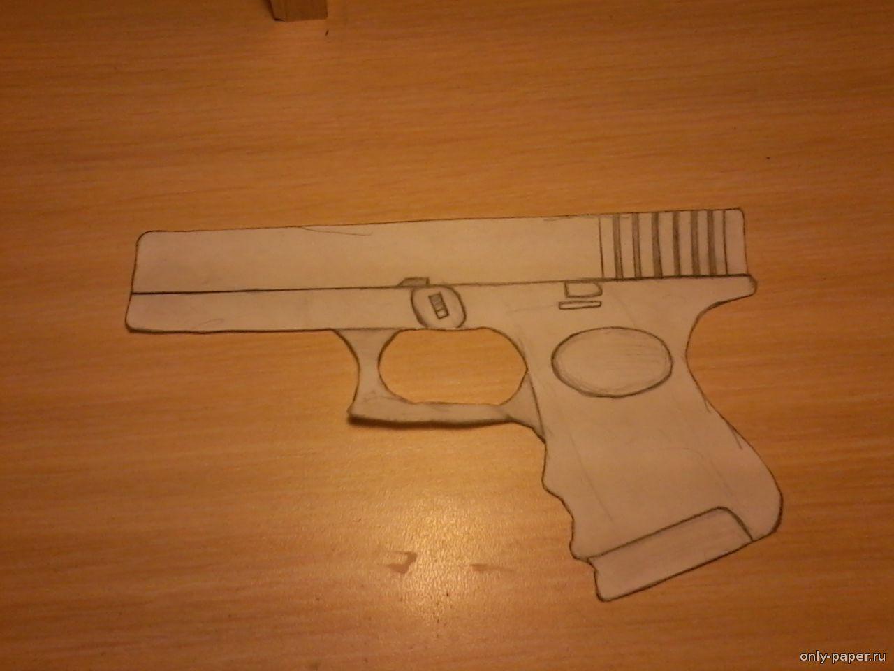 Как сделать пистолет глок 18 из бумаги