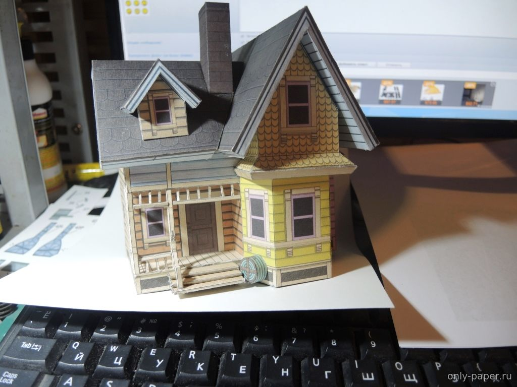 Как из бумаги сделать маленький домик из 324