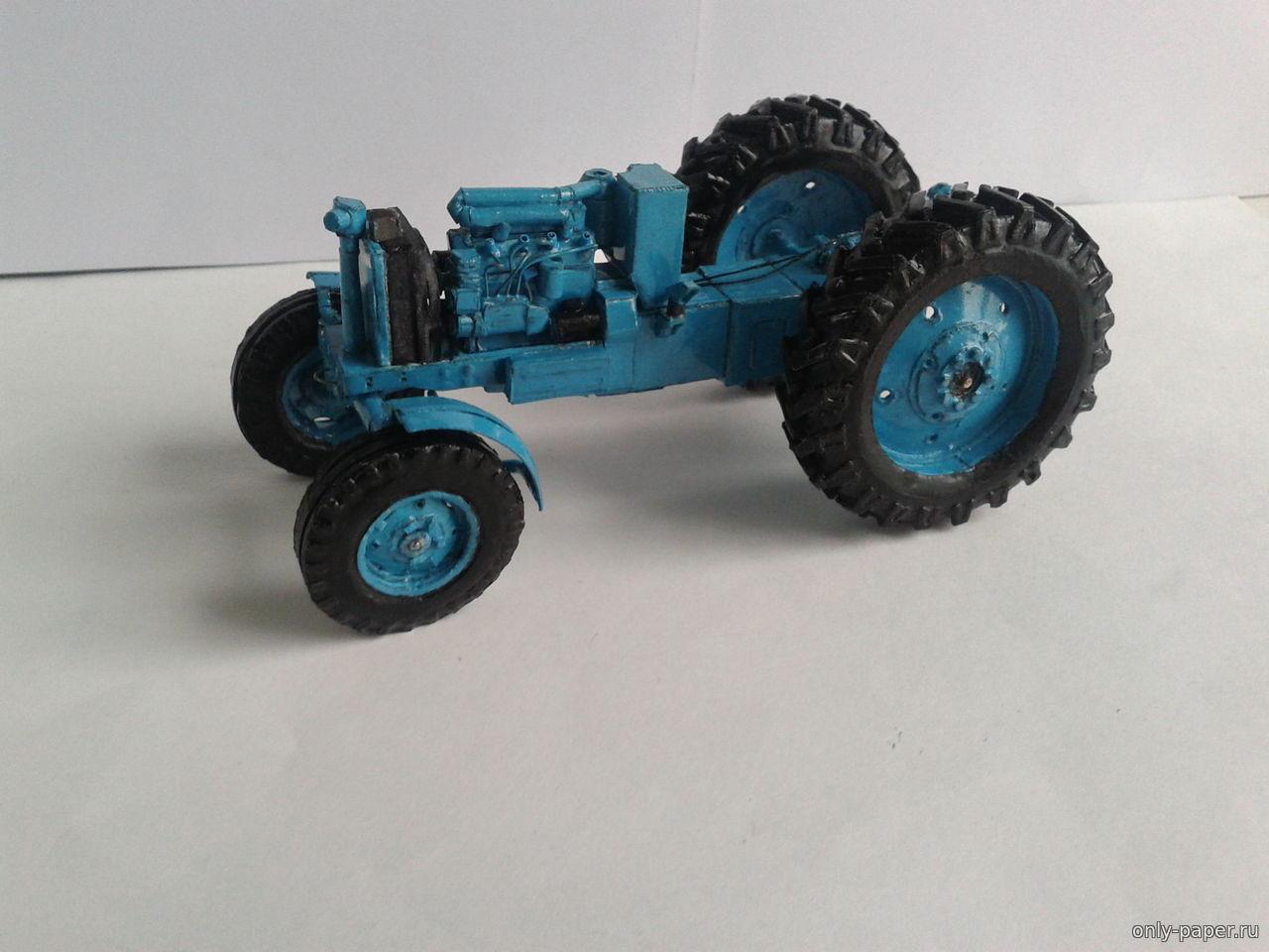 Трактор из картона - YouTube