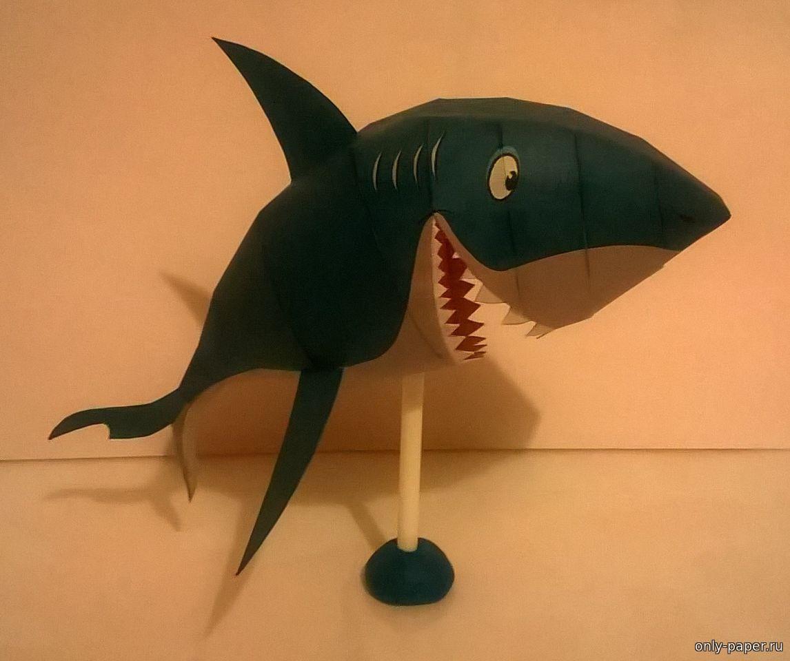 Поделки акула из бумаги 76