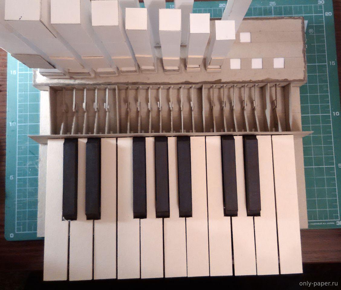 Действующий бумажный оргАн - Как сделать модели из бумаги и 17