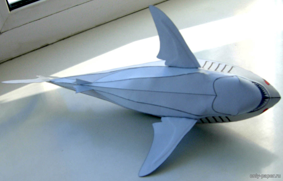 акула из бумаги своими руками видео