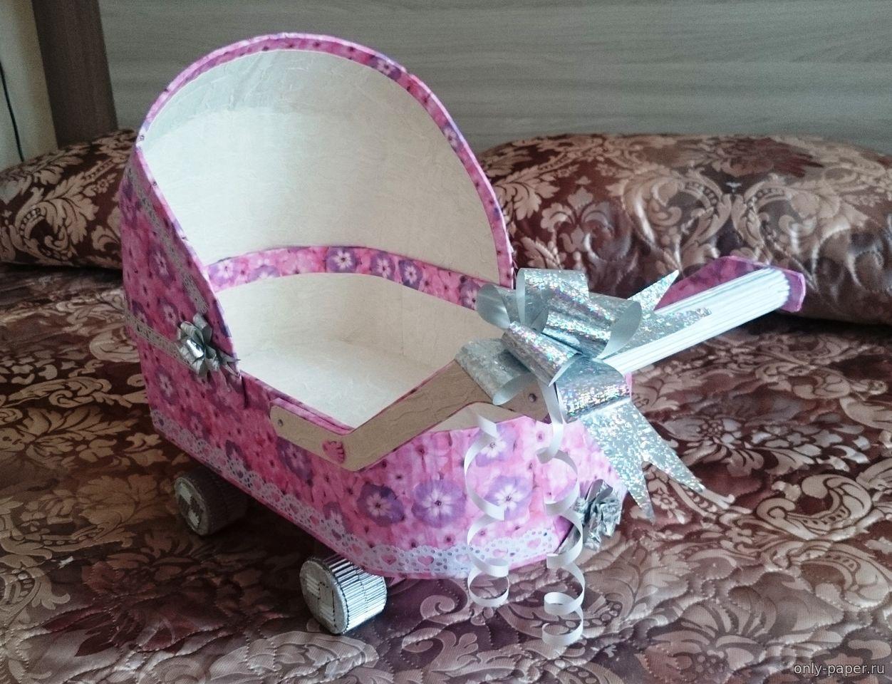 Работы из бумаги: коляска для денег ФОТО #1 Декор своими 12