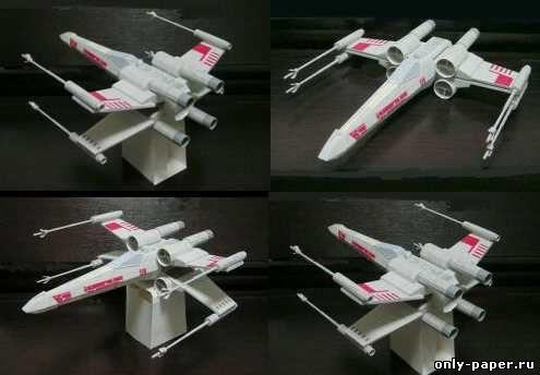 Посадочный модуль из бумаги
