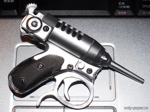 """Модель пистолета """"Дамский сверчок"""" из бумаги/картона"""