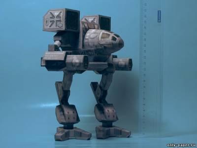 Модель робота Madcat из бумаги/картона