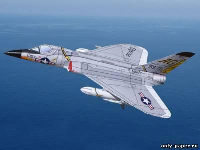 Модель самолета Douglas F5D Skylancer из бумаги/картона