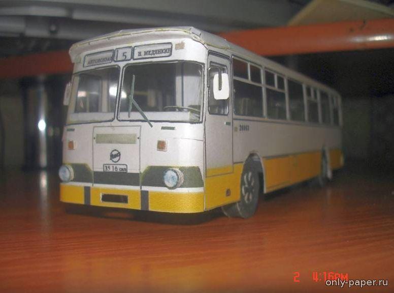 """ЛиАЗ 677М (Pasha) из бумаги, модели бумажные скачать бесплатно - Автобус - Гражданская техника - Каталог моделей - """"Только бумаг"""