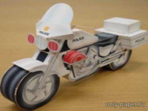 Мотоцикл из бумаги схемы шаблоны