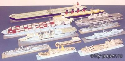 Бумажная модель Scale Model Ships from Card (Wizzo Design)