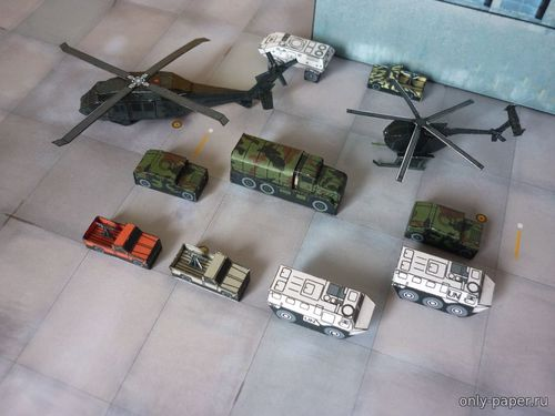 Бумажная модель Battle of Mogadishu 1993 (PR Models)