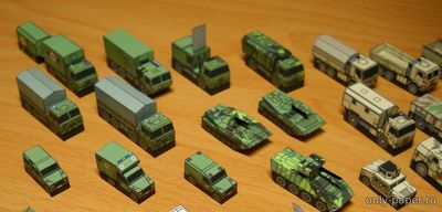 Бумажная модель Military vehicles of Army of Czech
