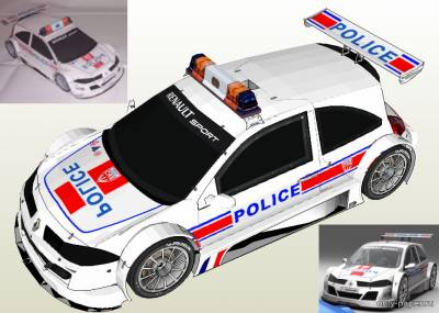 Бумажная модель Renault Megane Trophy Police [PH3DM]