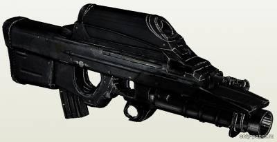 Модель автомата FN F2000 Tactical из бумаги/картона