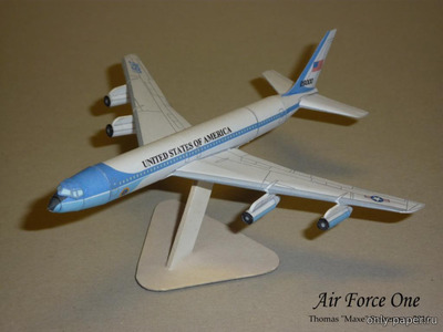 Бумажная модель Boeing B707 Air Force One (Bruno VanHecke)
