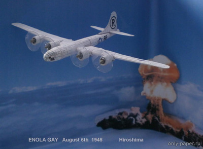Бумажная модель Boeing B-29 Superfortress / Tu-4 & Bell X1 (Bruno VanHecke)