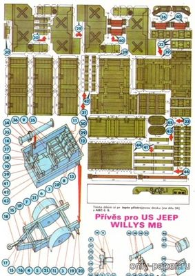 Бумажная модель Prives pro US Jeep Willis MB [ABC 1989-13]