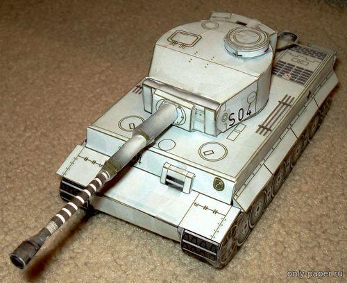 "Модель танка Panzerkampfwagen VI ""Tiger I"" Ausf E из бумаги/картона"