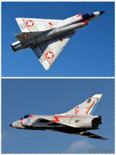Бумажная модель Mirage IIIC Switzerland / South Africa (TSMC)