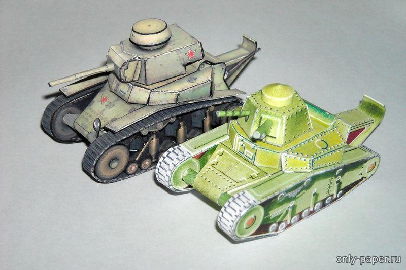 Модель танка из бумаги сделай своими руками фото 889