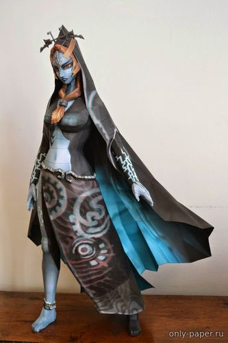 Бумажная модель The Legend of Zelda: Midna Human Form (PaperJuke)
