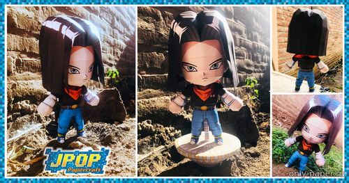Бумажная модель Android 17 Avatar (Dragon Ball FighterZ)