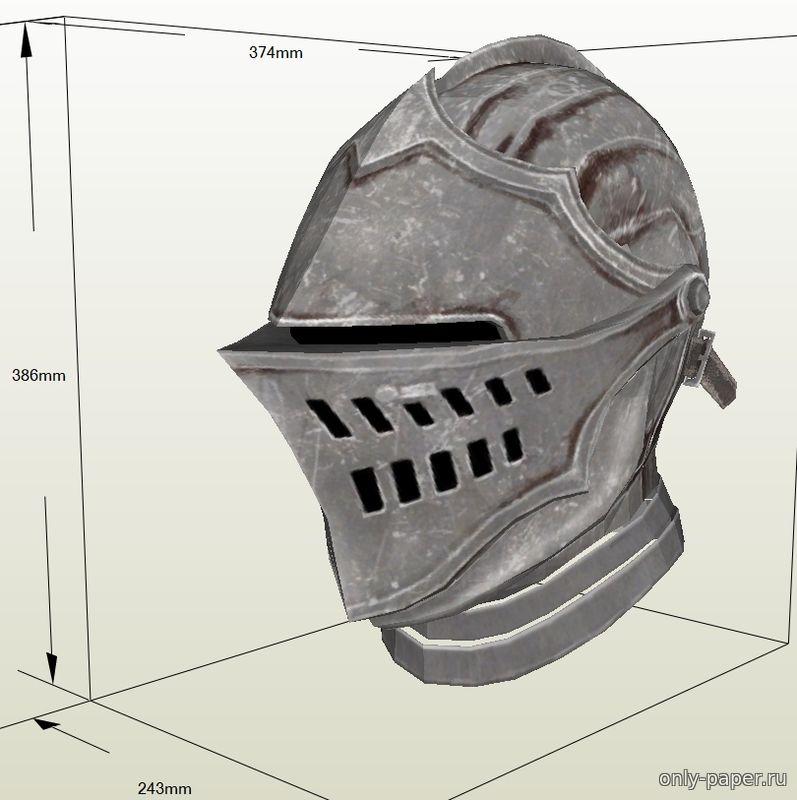 Шлем рыцаря своими руками из картона схема