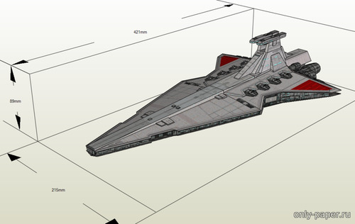 Бумажная модель Rebel Venator Star Destroyer (Star Wars)