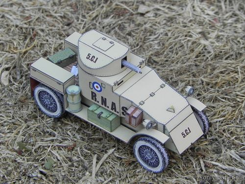 Бумажная модель Lanchester Armored Car (Fiddlers Green)